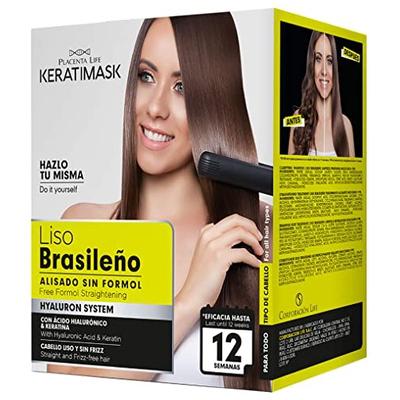 Be Natural Kit de Alisado Brasileño con Keratina,