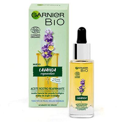Garnier Bio, Sérum Facial Reafirmante con Aceite Esencial Lavanda
