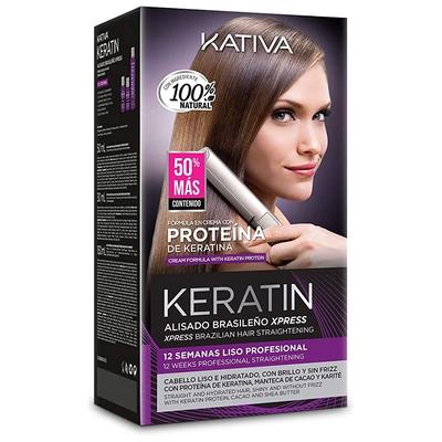 KATIVA Alisado Brasileño de Pelo, Hidratante con Keratina