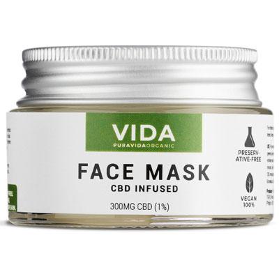Mascarilla facial para hidratación anti edad CBD
