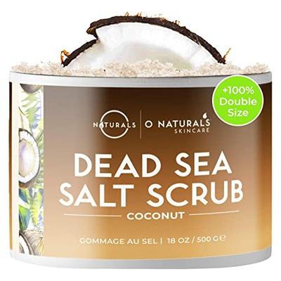 O Naturals Exfoliante de Aceite de Coco y Sal del mar muerto