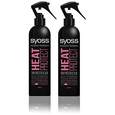 Syoss - Spray protector térmico, 2 uds de 250ml